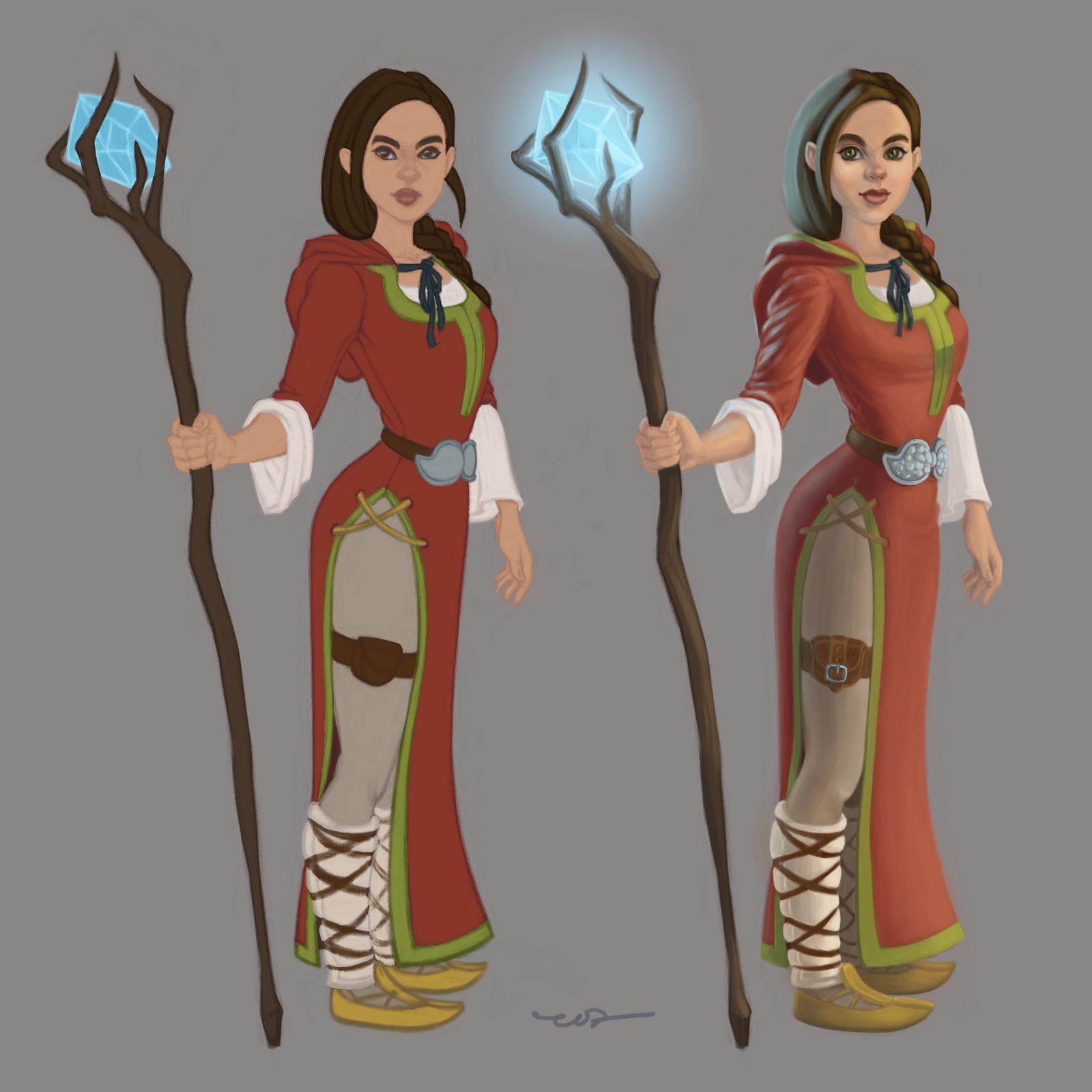 Магьосница - дизайн на персонаж от Росица 'roz' Захариева - оцветяване