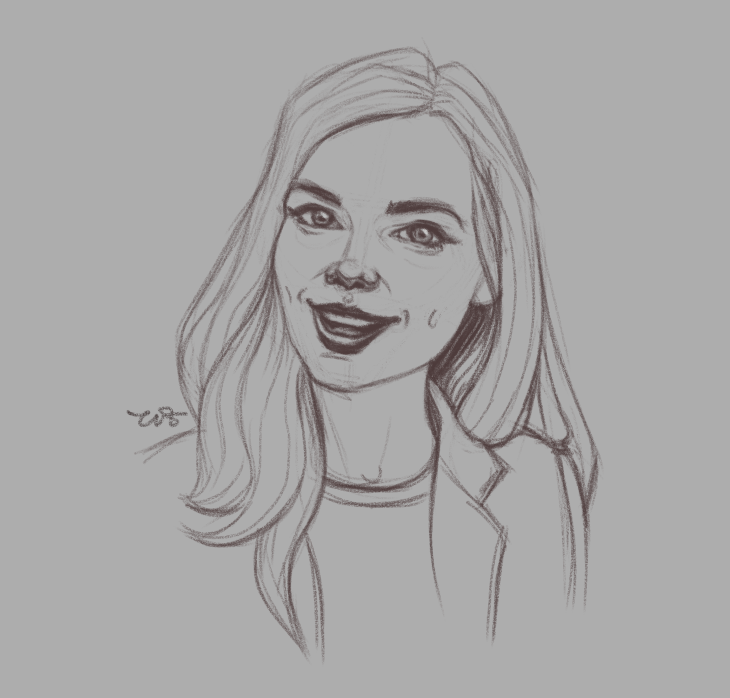 Момиче 2 - скица от Росица 'roz' Захариева