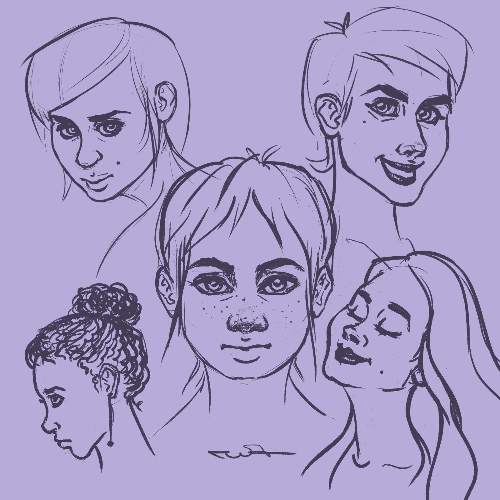 Жени - скица от Росица 'roz' Захариева