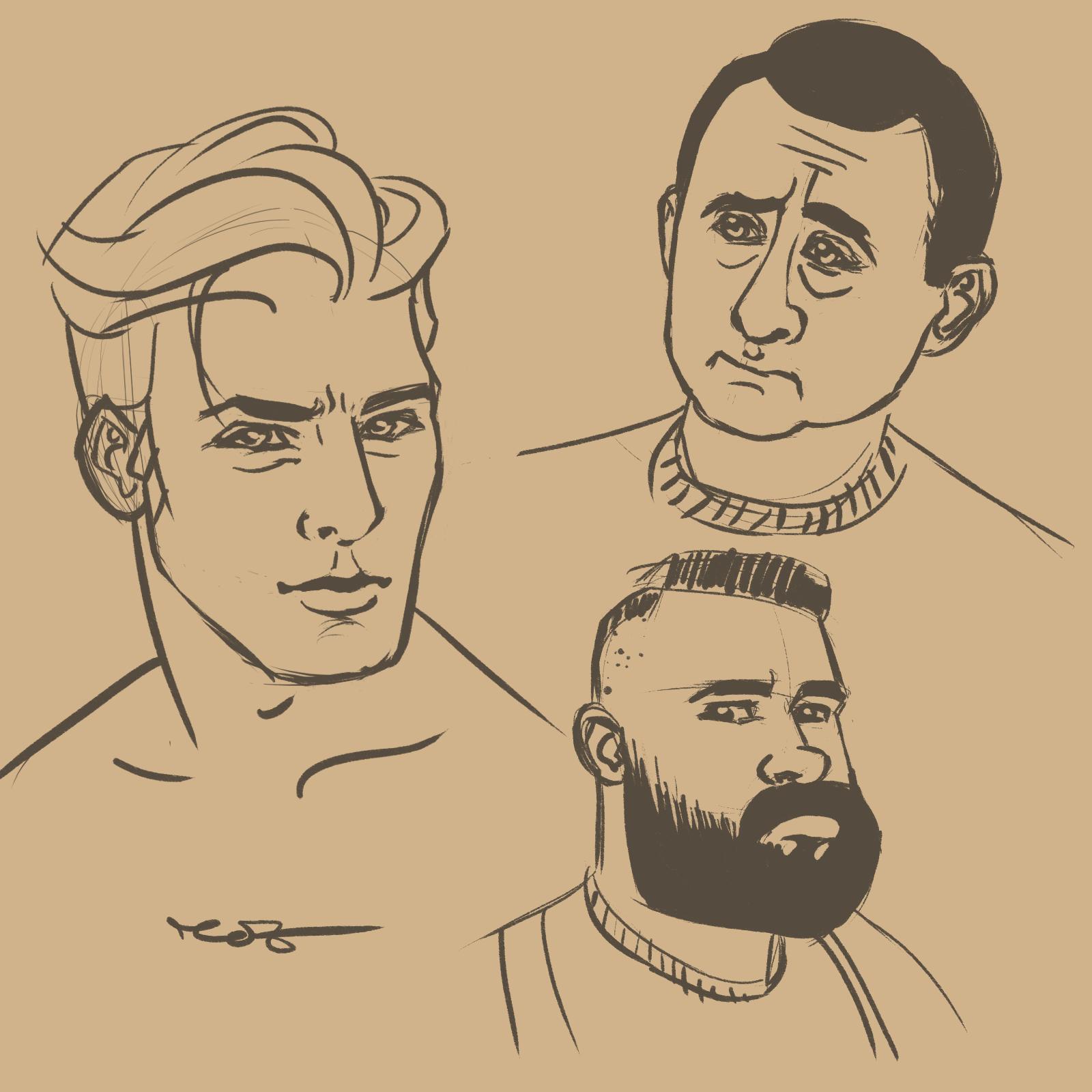 Мъже - скица от Росица 'roz' Захариева